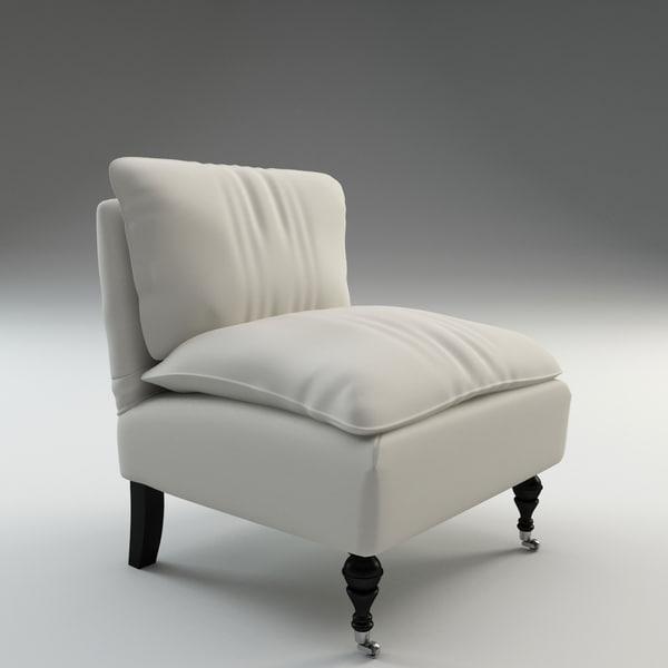 c4d katherine slipper chair