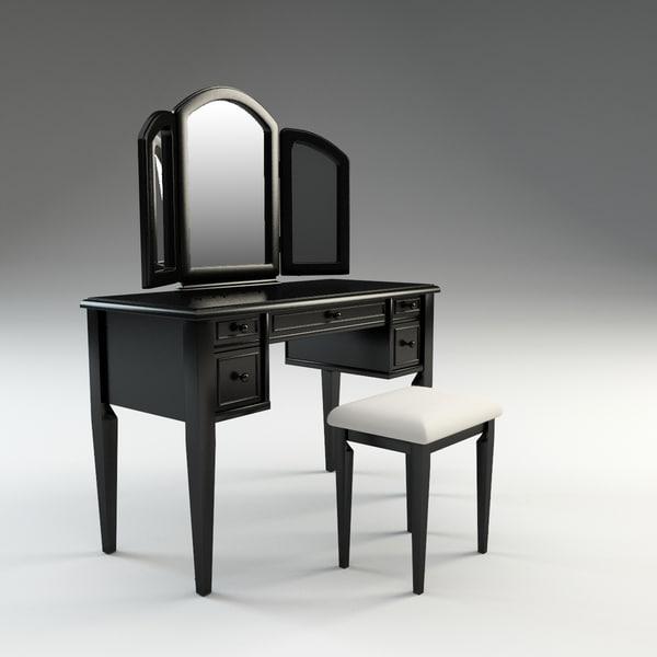 c4d antique vanity set