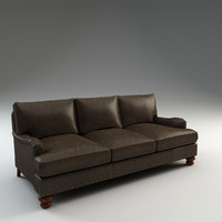 3d montgomery leather sofa model