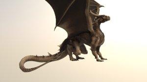 mesh dragon 4k obj