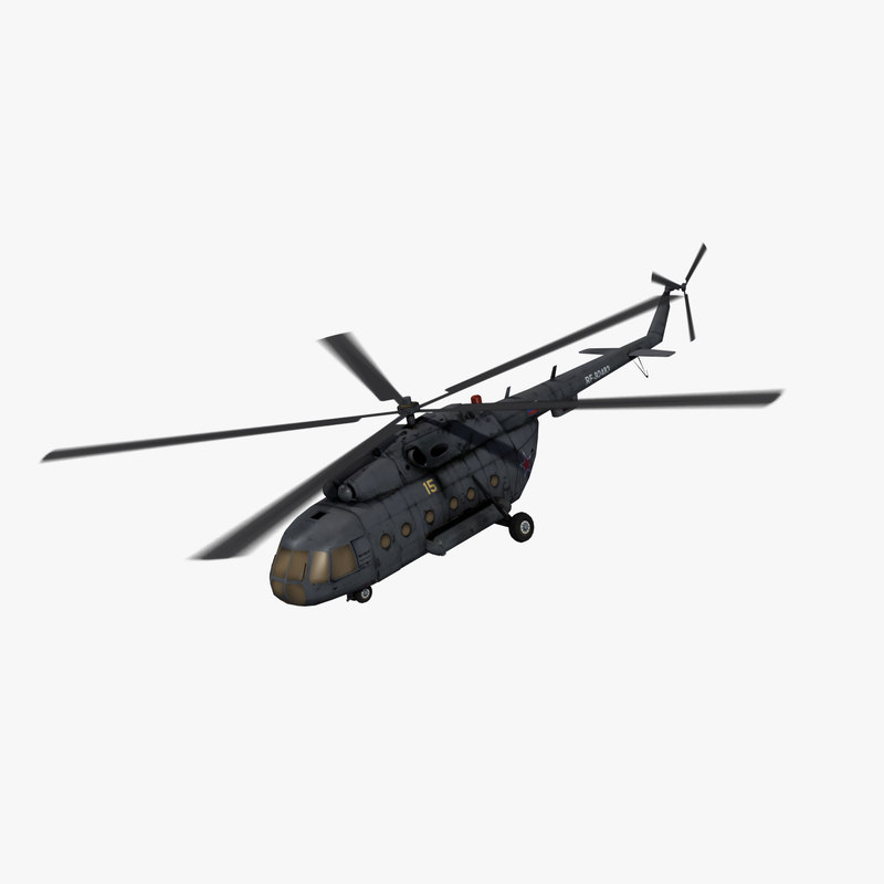 3d model mi-17 hip helicopter