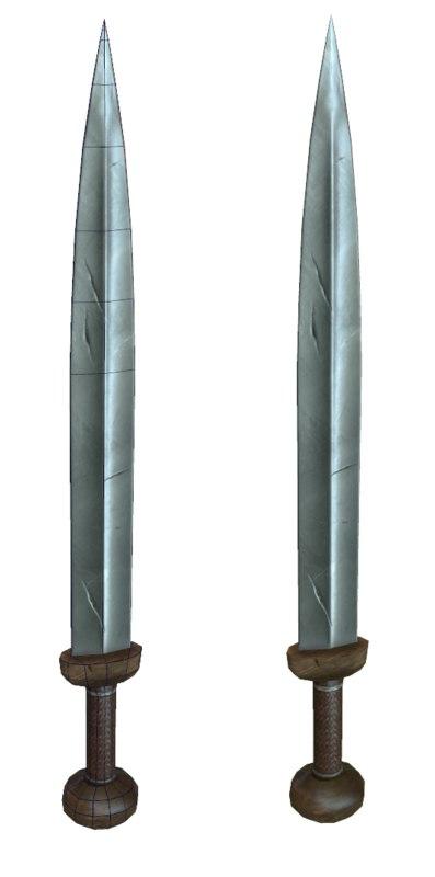 3d gladius sword