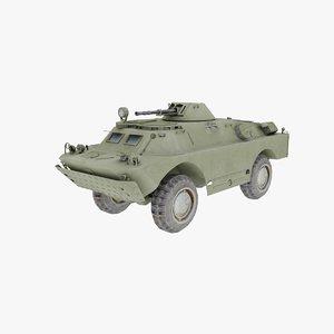 3d russian brdm-2 armored