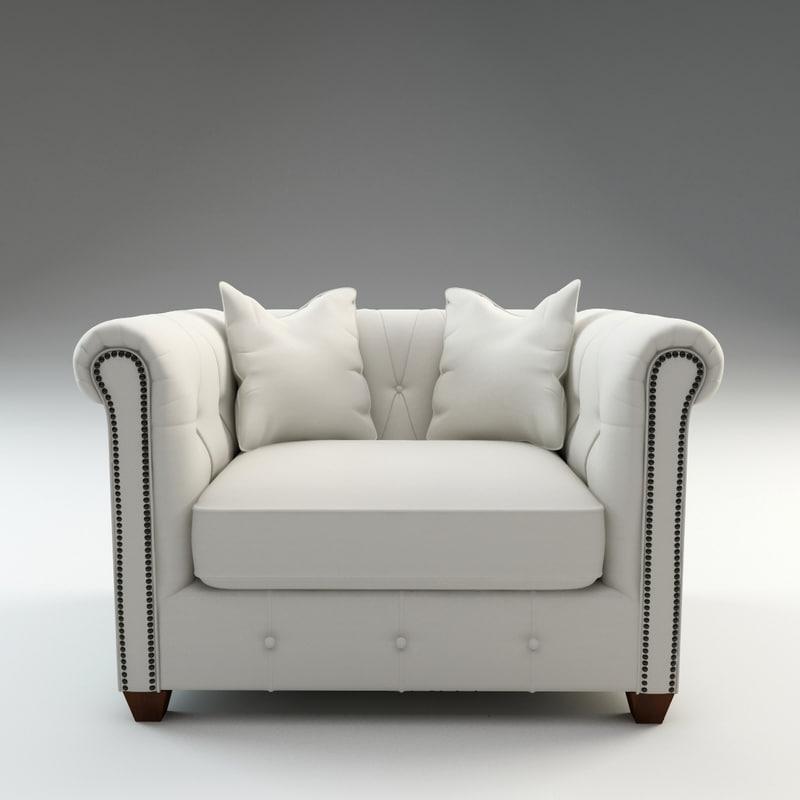 josephine armchair chair 3d model