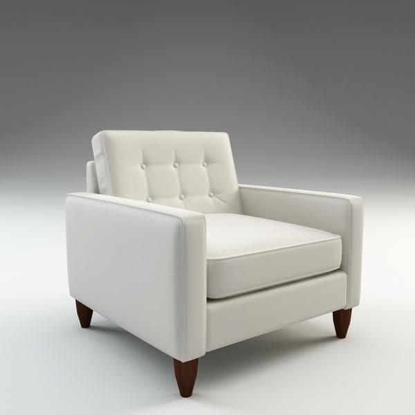 harper arm chair 3d c4d