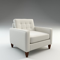 harper arm chair 3d c4d