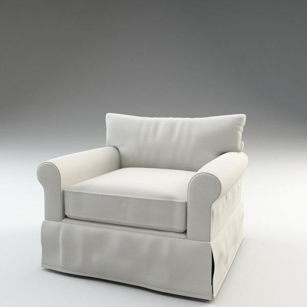 felicity armchair chair 3d model