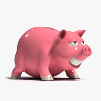 piggy bank pig 3d max