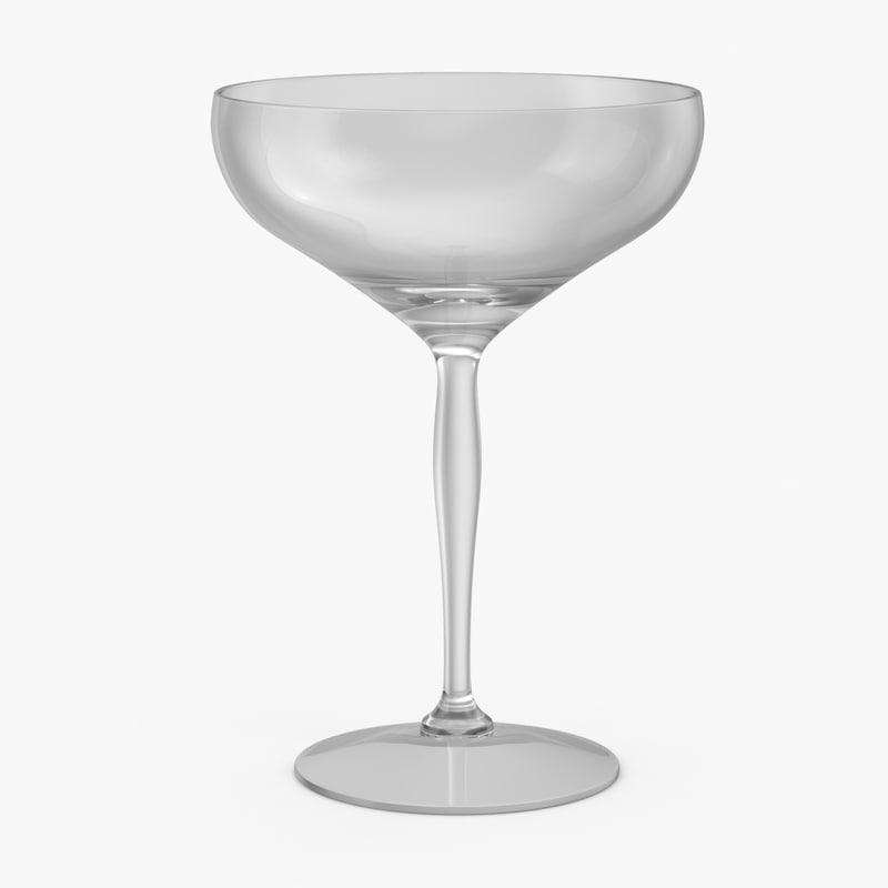 3d model champagne coupe