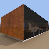 3d model tverrfjellhytta pavilion