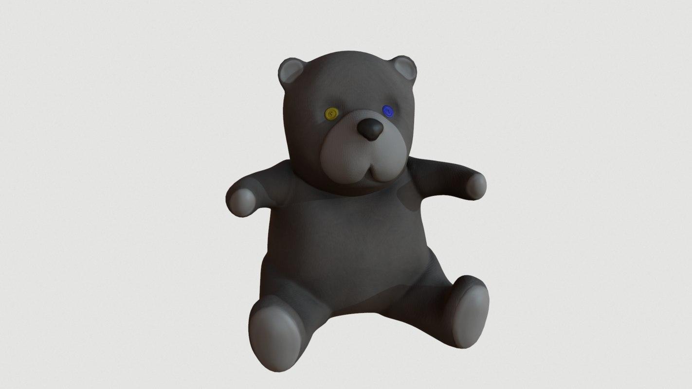 toy bear 3d max