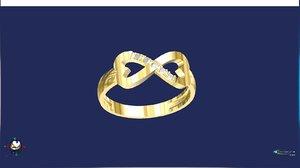 infinity heart ring 3d model