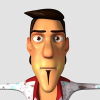 3d man cartoon character animation