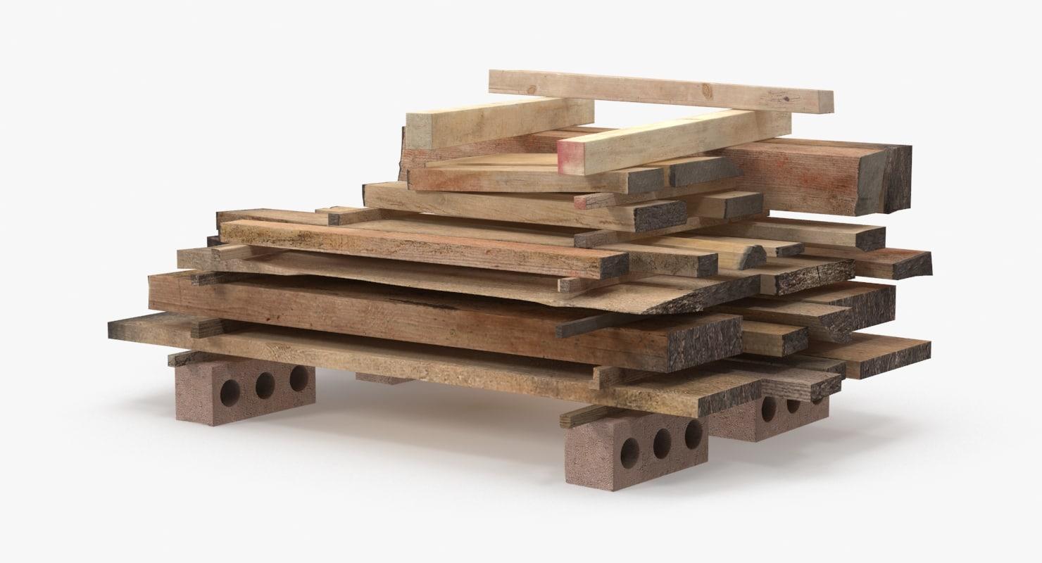 lumber 3d model