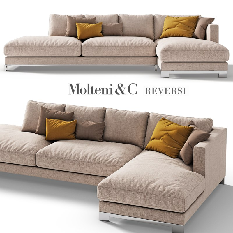 3d model molteni c reversi sofa