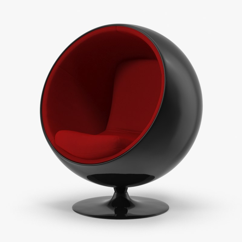3d max eero aarnio ball chair