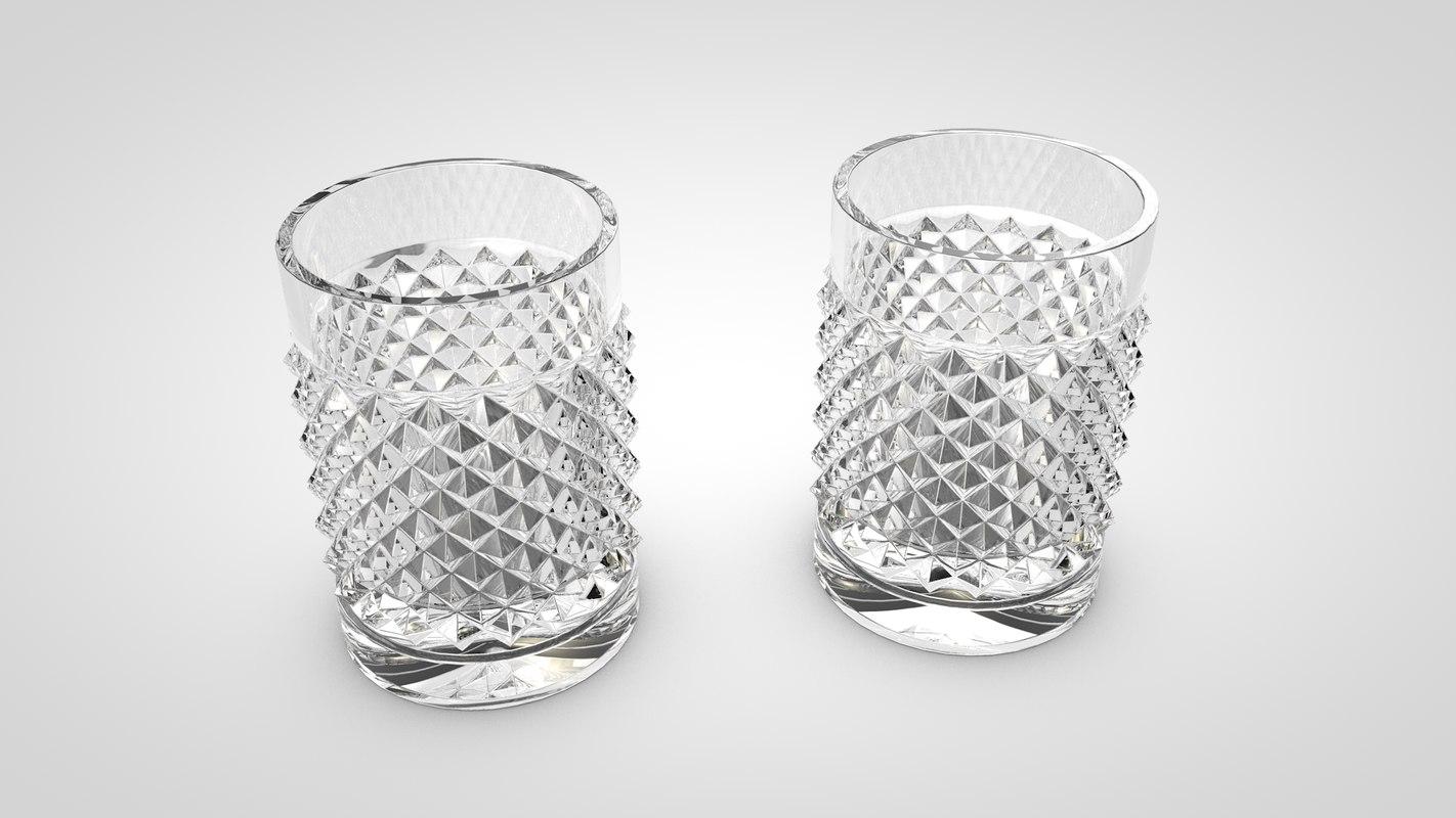 3d baccarat glass model