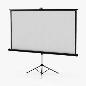 projector screen 3d model