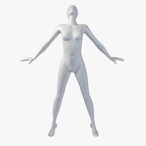 female mannequin obj