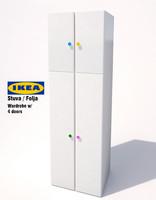 3d model ikea stuva folja wardrobe