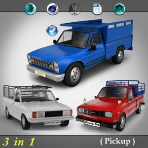 3d 3 1 pick pickup model