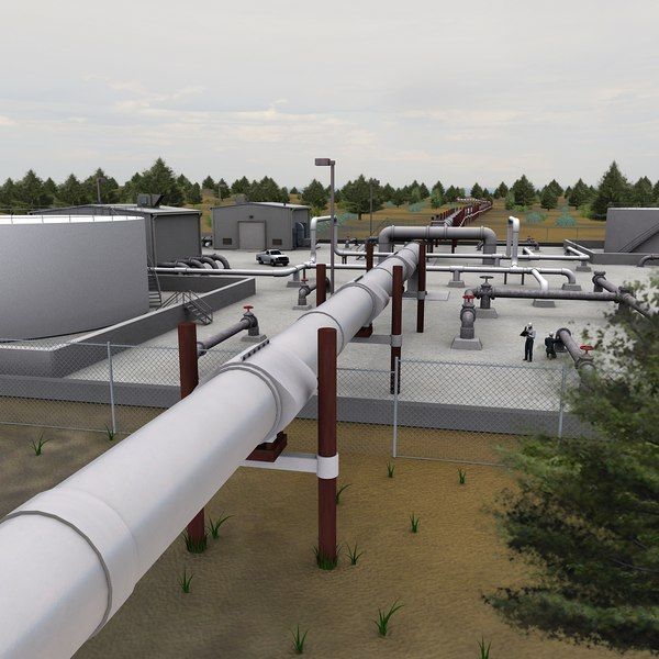 3d model pipeline pipe