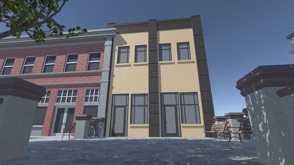 3d x building apartment