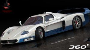 3d maserati mc12 2004 model
