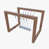newtons cradle 3d model