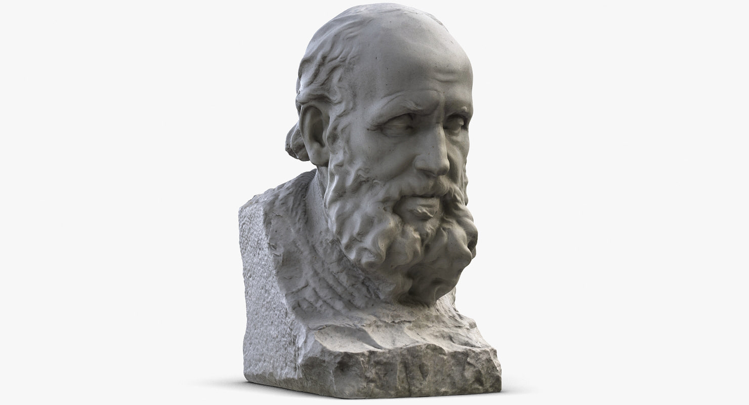 old man bust 3d max