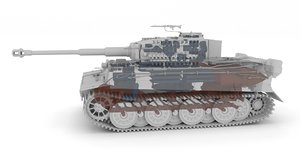 built tiger e late 3d obj