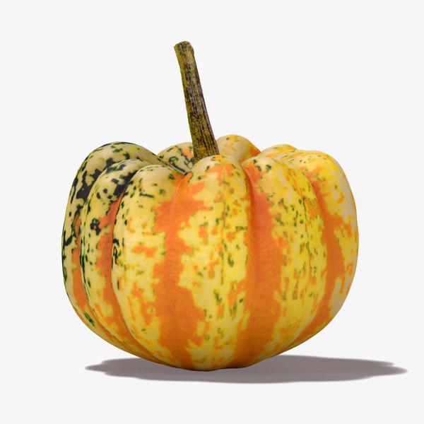carnival squash pumpkin 3d obj