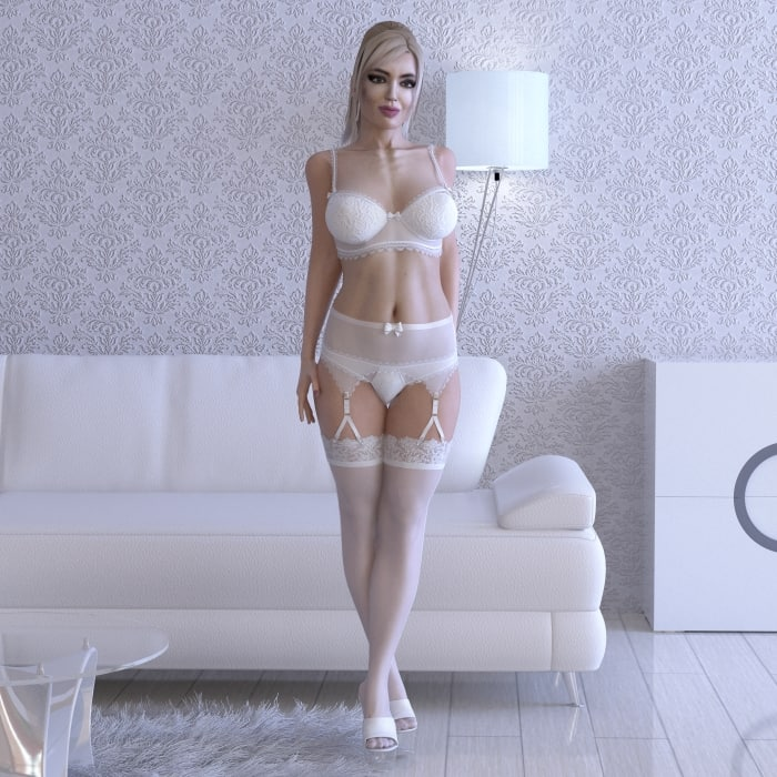 rigged female 3d max