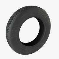 3d model tire classic