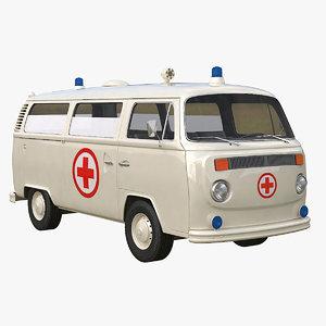 vintage ambulance 3d model
