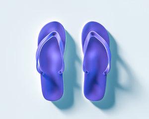 summer slippers 3d x