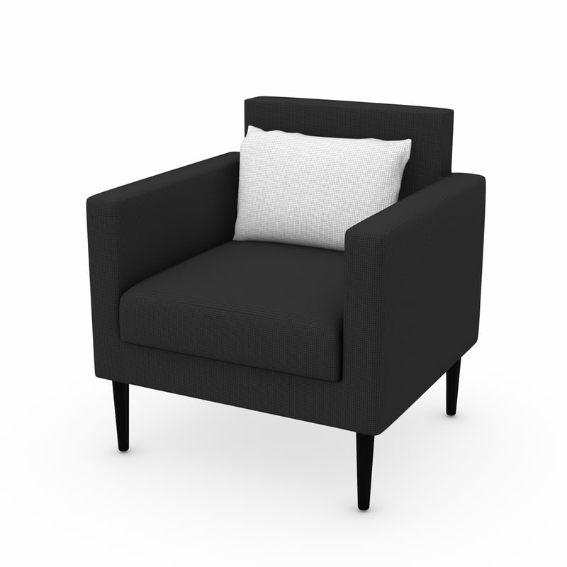 armchair chair 3d 3ds