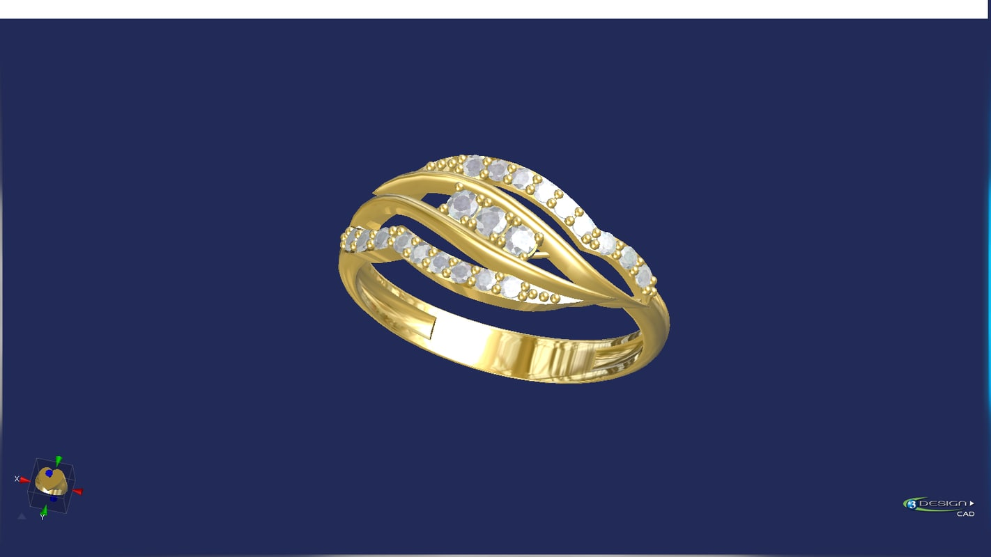 3d lady ring model