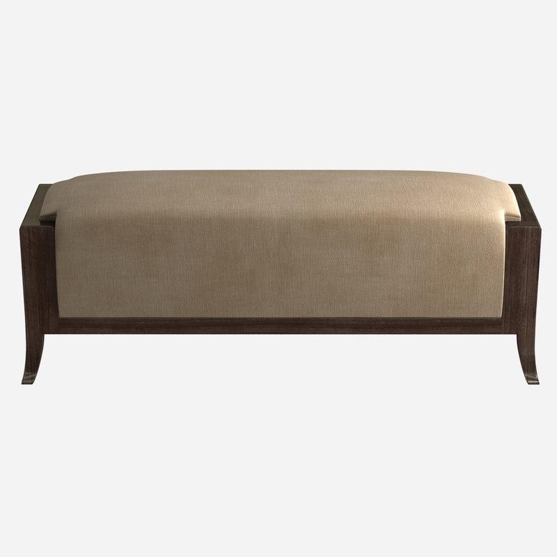 bench bernhardt haven 3d max