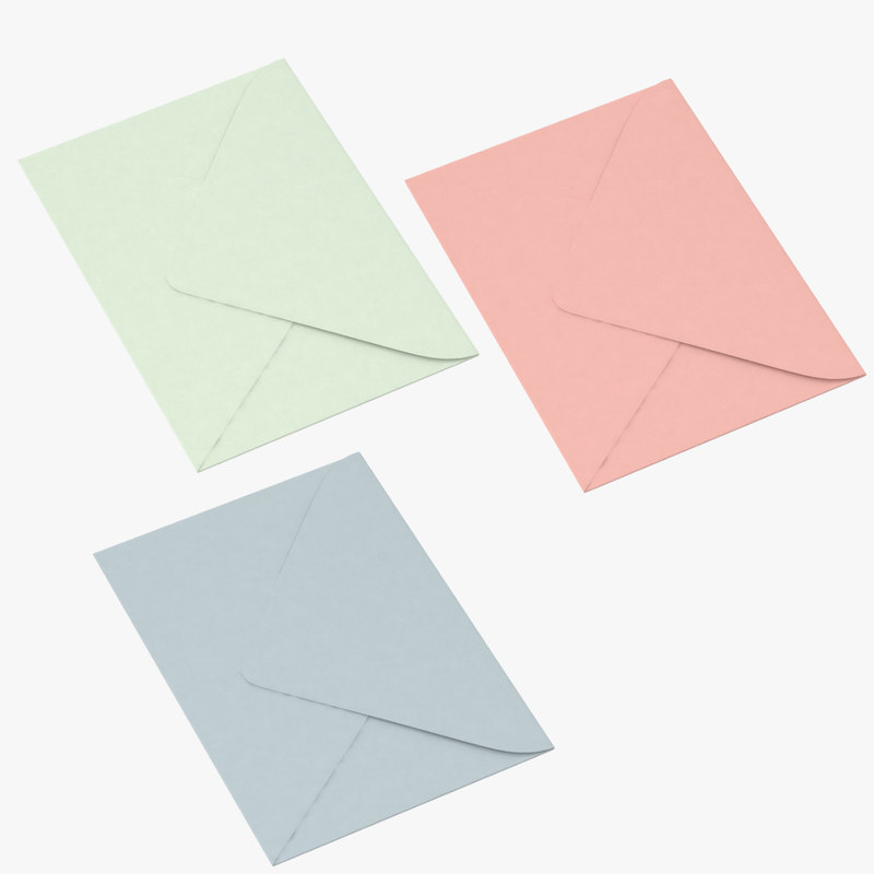 3d model closed envelopes
