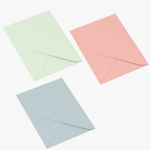 3d model closed envelopes