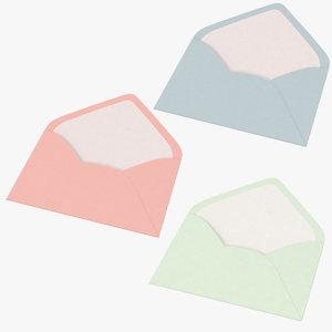 3d model open envelopes