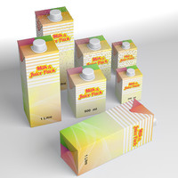 Milk and Juice pack, 1l, 500 ml, 200 ml