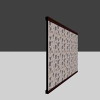 asset wall 3d model