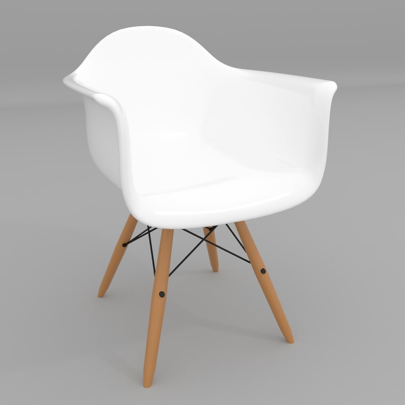 3d model chair eames daw