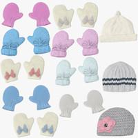 3d newborn caps mittens