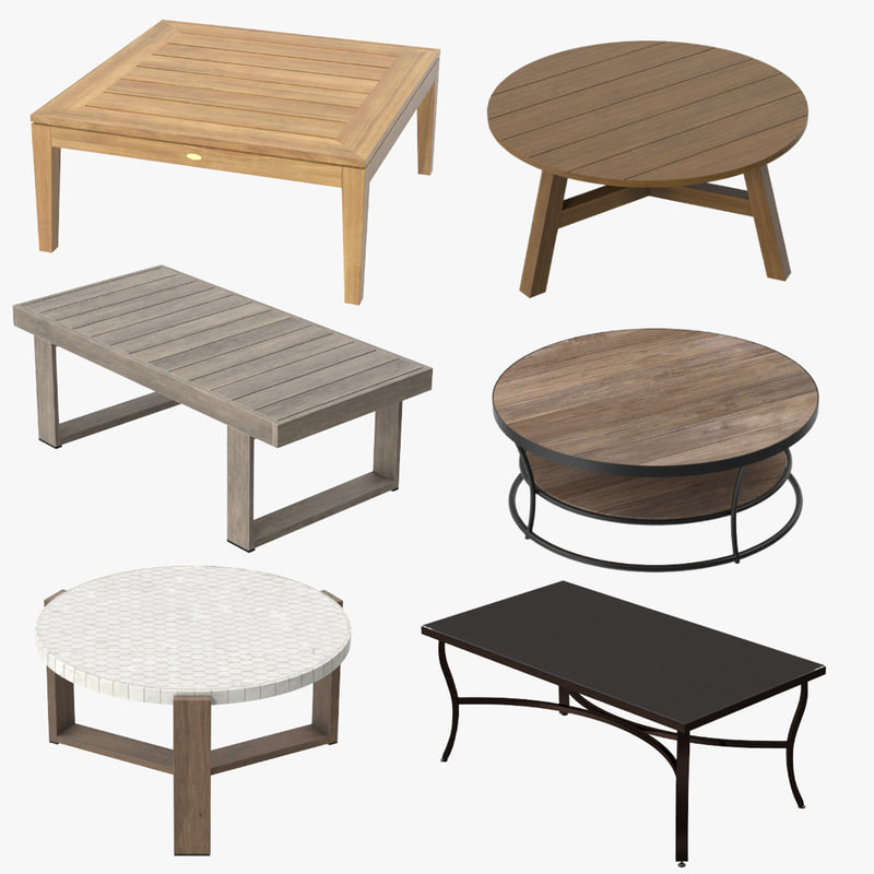3d patio coffee tables