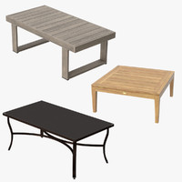 3d patio coffee tables square