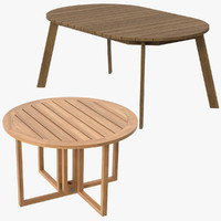 3d model patio dinning tables