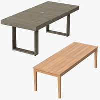 patio dinning tables 3d c4d